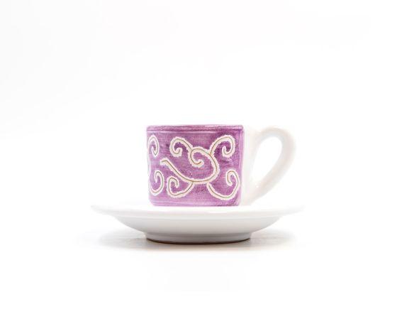 tazzina caffè con piattino Linea viola