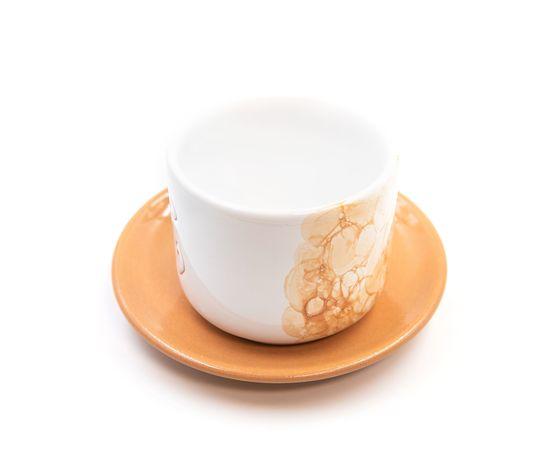 Tazza Latte con piattino linea ambra