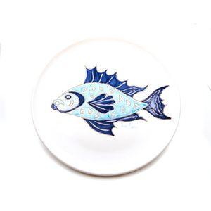 Piatto cm 32 con pesce blu