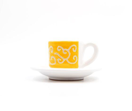 tazzina caffè con piattino Linea arancione