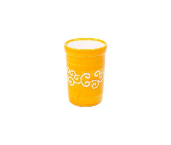 Bicchiere acqua linea arancione con riccioli
