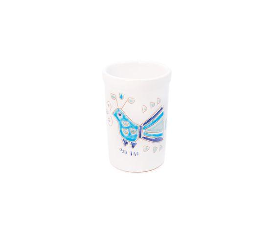 Bicchiere acqua/portaspazzolini/portapenne  linea mare