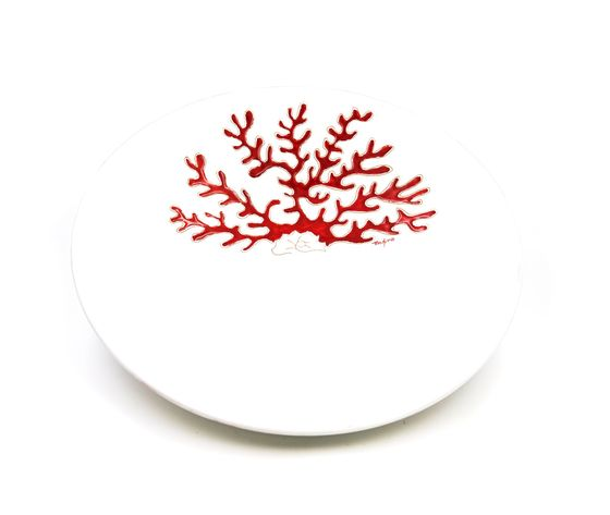 Centrotavola linea corallo rosso