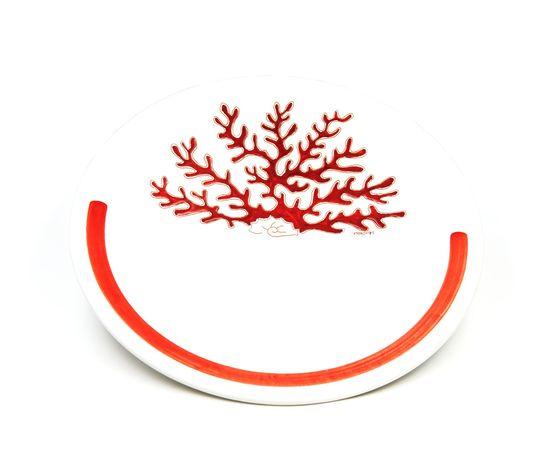 Centrotavola linea corallo rosso con fascia rossa