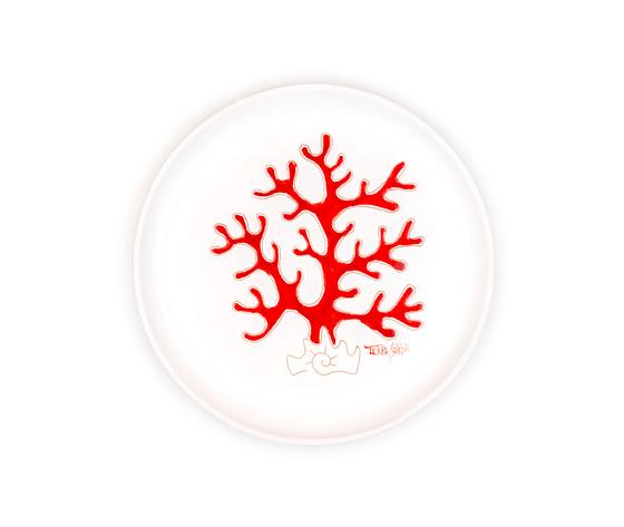 Piatto cm 23 linea corallo rosso