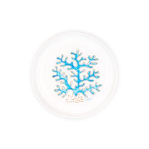 Piatto cm 23 linea corallo turchese