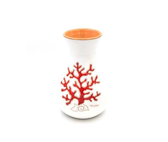 Vaso Bombato linea corallo rosso