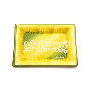 Vassoio portacioccolatini Linea verde sfumato con riccioli