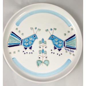 Piatto cm 23 linea mare gallinella azzurre