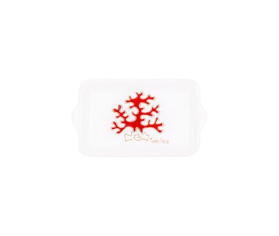 Vassoio rettangolare piccolo linea corallo rosso cm 17x10,5