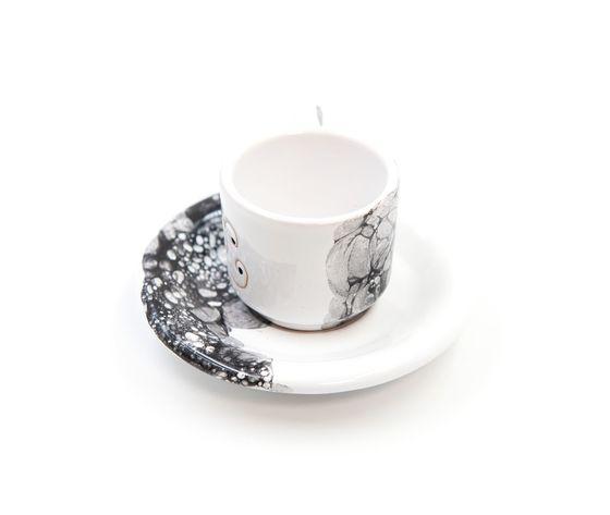 tazzina caffè con piattino Linea ossidiana