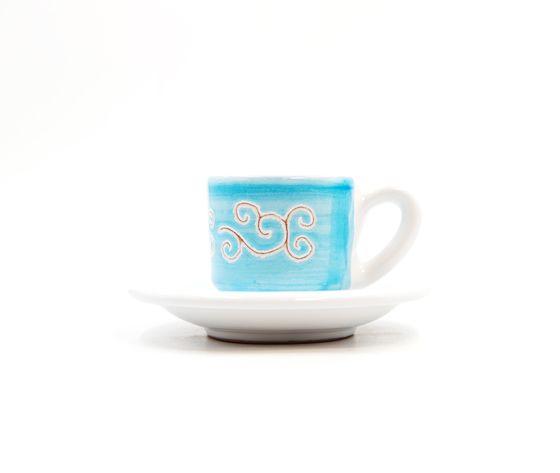 tazzina caffè con piattino Linea turchese