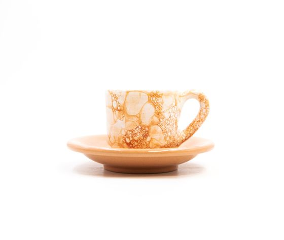 tazzina caffè con piattino Linea ambra