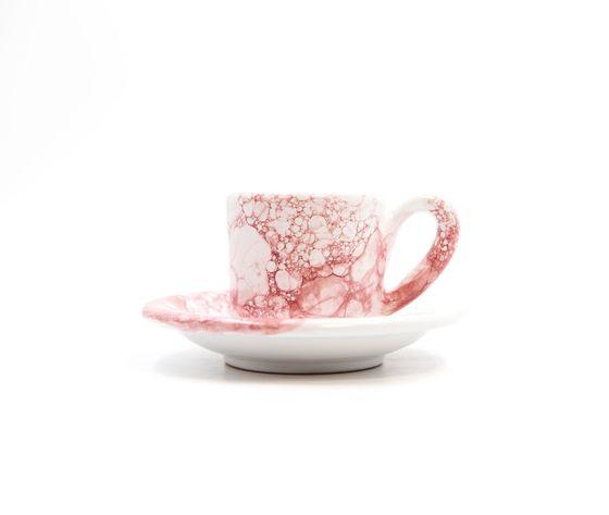 tazzina caffè con piattino Linea granata