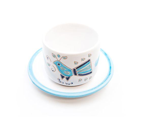 Tazza Latte con piattino linea mare