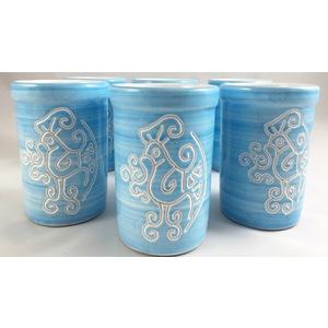Servizio da 6 Bicchieri acqua  linea turchese
