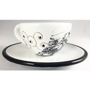 Tazza da the/tisana/capuccino con piattino