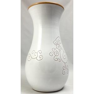 Vaso 1lt e mezzo Linea Bianco Terra cm 25 circa