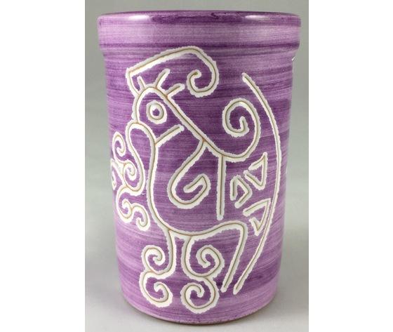 Bicchiere acqua/portaspazzolini/portapenne  linea viola