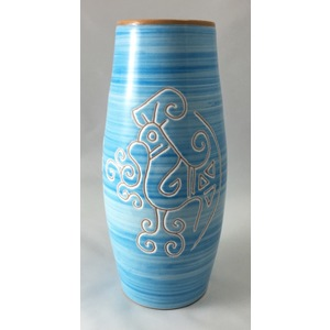 Vaso 1 litro dritto Linea Turchese
