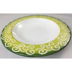 Offerta Piatto fondo linea verde sfumato con riccioli