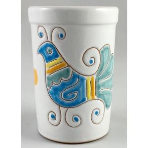 Bicchiere acqua/portaspazzolini/portapenne  linea primavera