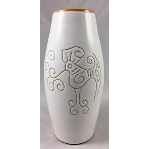 Vaso 1 litro dritto Linea Bianco Terra