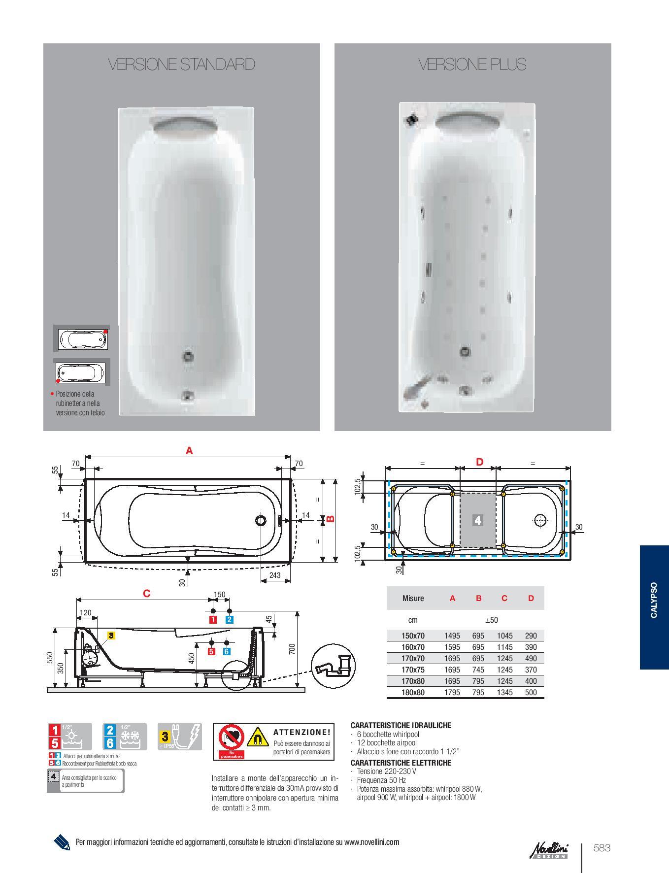 Vasca calypso versione idro ceramiche ugussi for Mito idro edilkamin scheda tecnica