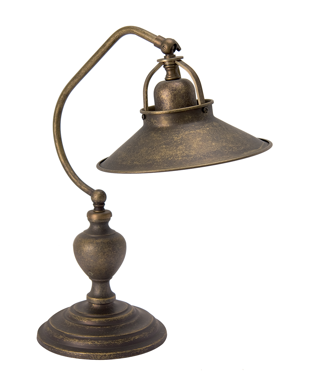 Lampada Da Scrivania In Ottone.Lampada Da Tavolo In Ottone Anticato