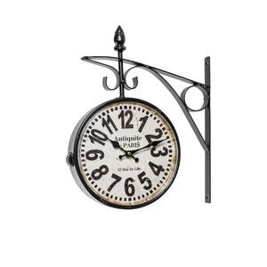 orologio da parete stile stazione nero