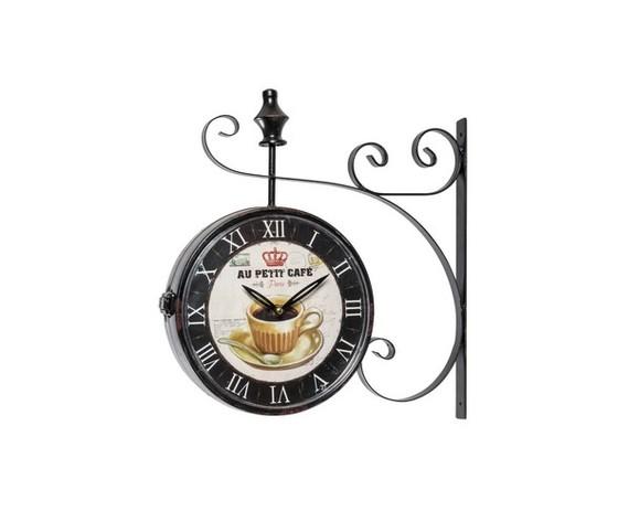 orologio da parete stile stazione nero stampa cafè