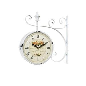 orologio da parete stile stazione anticato bianco