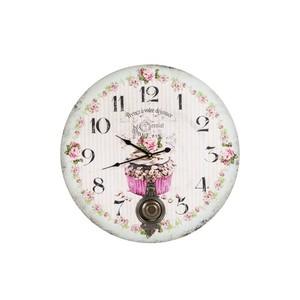 orologio parete pendolo stampa cupcake