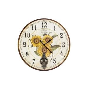orologio parete  stampa girasoli