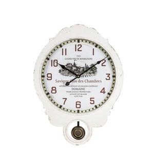 orologio pendolo legno bianco