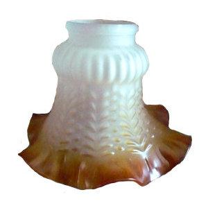 paralume in vetro bianco e ambra