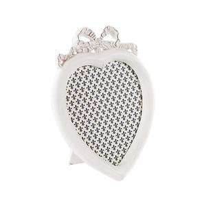 portafoto a cuore bianco 16 cm