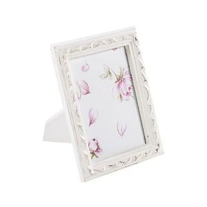 portafoto in legno 23 cm bianco