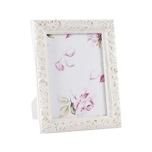 portafoto in legno 23 cm bianco 2