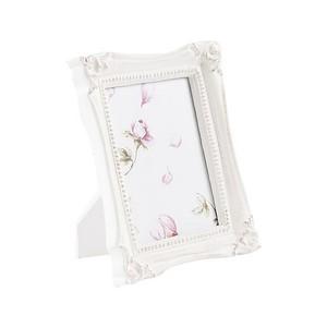 portafoto in legno 24 cm bianco