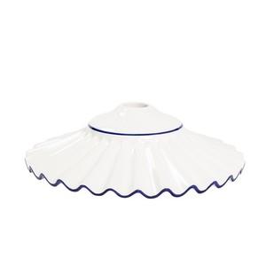piatto in ceramica plissettato blu 38cm