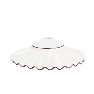 piatto in ceramica plissettato marrone 38cm