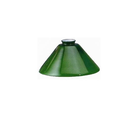 paralume vetro cono verde 25cm - WAY HOME STORE