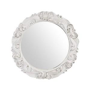 specchio bianco lavorato