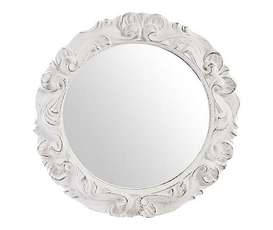 Specchio Tondo Da Parete.Specchio Bianco Lavorato Way Home Store