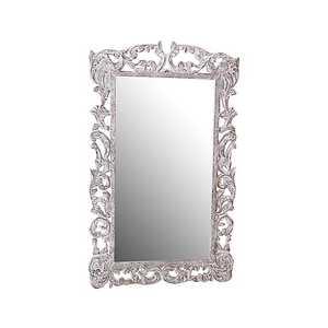 specchio bianco da parete rettangolare lavorato 150 cm