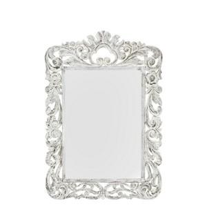 specchio bianco lavorato 130 cm