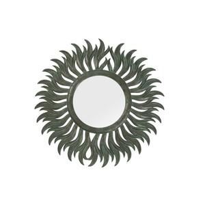 specchio parete sole verde