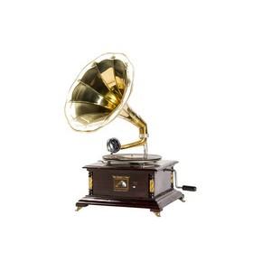 grammofono con cassa quadrata retrò