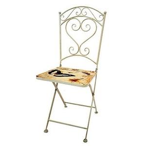 sedia ferro bianco shabby chic 36 cm